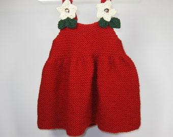 Knitting Patterns for Girls Dresses Children's  Knitting Pattern Toddler Knitting Patterns Baby Gifts Holiday Dress Knitting Pattern via PDF