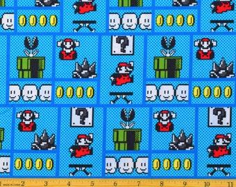 Nintendo Fabric Nintendo Super Mario Game Board Fabric From Springs Creative 100% Cotton
