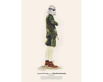 He Wears It 023 - Coruscant Clone Trooper wears White Mountaineering
