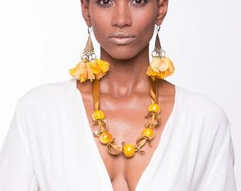 Tassel Earrings Statement Earrings Bohemian Earrings Dangle silk Earrings Bohemian Jewelry Boho Chic Fashion Ethnic earrings Summer earrings