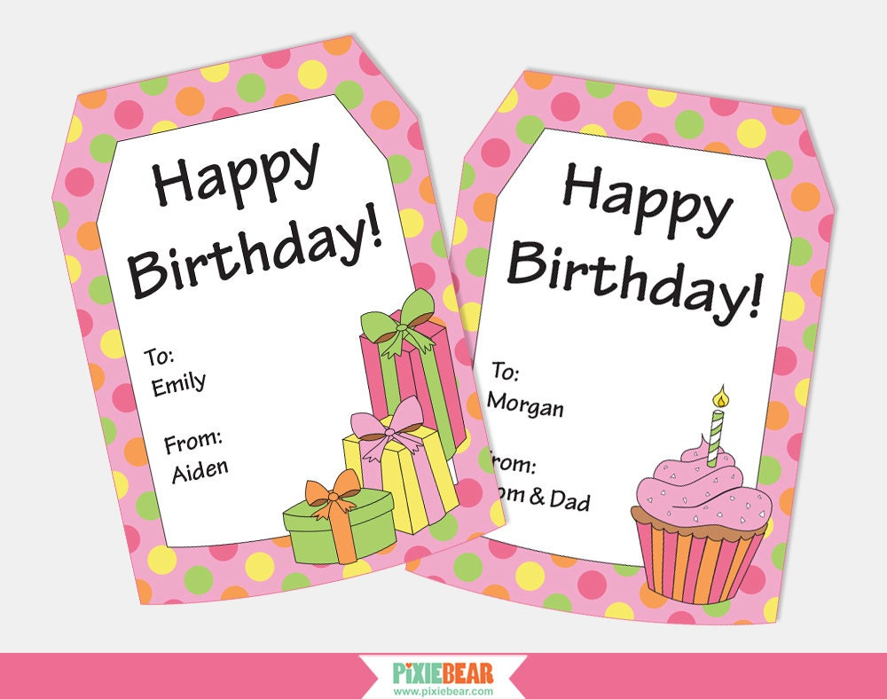 Birthday gift tags personalized gift tags personalized zoom negle Gallery