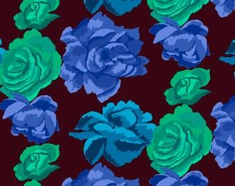 Kaffe Fassett collective- Rose Clouds - Aubergine - (PWGP164.AUBER) - 1/2 Yard++