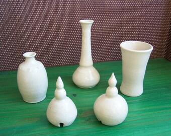Set in beige ceramic home decor