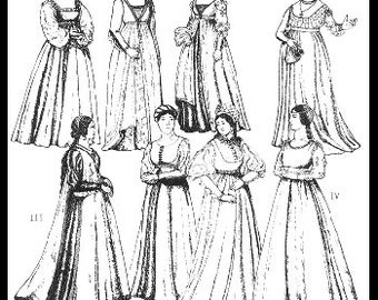 PP41 -  Women's Italian Renaissance Gowns Sewing Pattern by PeriodPatterns