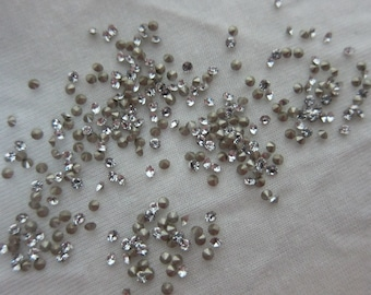 PP12 (1.8-1.9mm) Swarovski Crystal Xirius Chatons, 1028, Crystal Clear, Foiled - Available in 50 & 72 Stone Pkgs and also in Larger Pkgs
