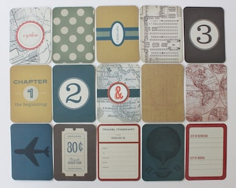 50 Project Life Cards VINTAGE TRAVEL Core Kit 3 x 4 Pocket Cards