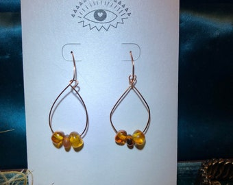 Amber = Color of Your Energy Earrings