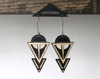 Laser cut earring | COVEN BLK