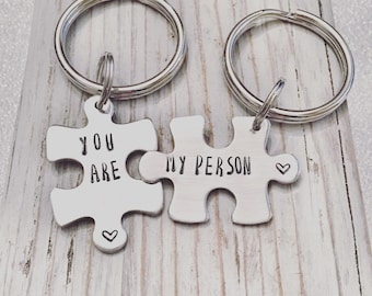 You're My Person Keychain - Grey's Anatomy keychain - BFF gift - Friend gift - You are my person - Puzzle keychain