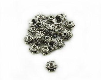 Caps Beads, Metal Caps Beads, 7mm Caps Beads, 15pcs Caps Beads, Jewelry Making, DIY Beads Caps
