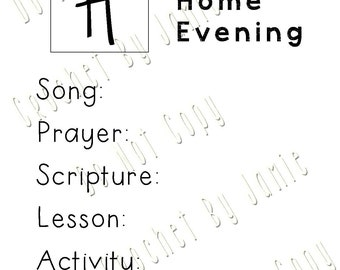 Family Home Evening Chart