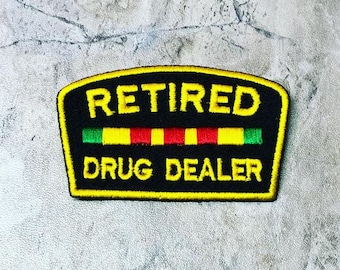 drug dealer patch iron on