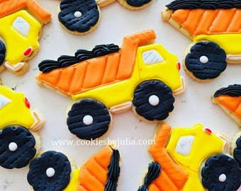 Truck/construction birthday party/party zone/ construction birthday party favors/cookies/construction birthday party decorations