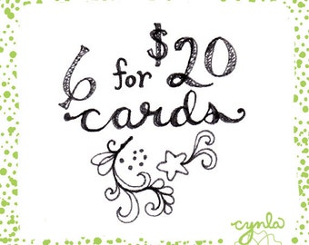 Pick 6 for 20 Dollars Cards -- Best Deal in Town