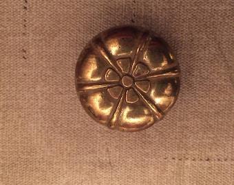 Vintage Brass Flower Knob