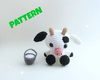 Amigurumi Cow Pattern, Farm Animal Pattern, Crochet Farm Animals Pattern, Amigurumi Animal Pattern, Crochet Amigurumi Pattern, Kids Pattern