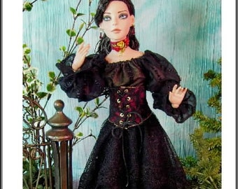 """ONYX EL Pattern Ellowyne Wilde, Tonner A Romantic Outfit for  16"""" dolls Prudence, Thea"""