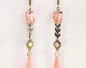Origami lotus Onnagata 女形 earrings