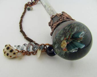 Mermaid Cosplay Magic Wand, Heady Glass Borosilicate Glass Staff, Hand Blown Fantasy Art Glass, Coral Reef Ocean Glass, Wizard Witches Wand