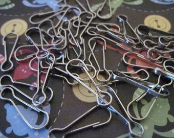 Silver Zipper Pulls Lot of 50