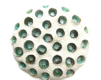 Moos Koralle Zellen Runde Porzellan-Wand-Skulptur-Fliese