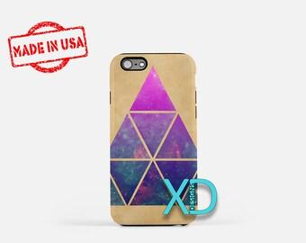 Space Triangle iPhone Case, Retro iPhone Case, Triangle iPhone 8 Case, iPhone 6s Case, iPhone 7 Case, Phone Case, iPhone X Case, SE Case