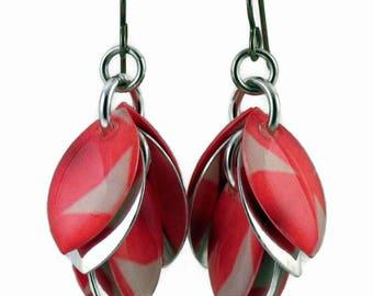 Watercolor Tulips Cluster Earrings