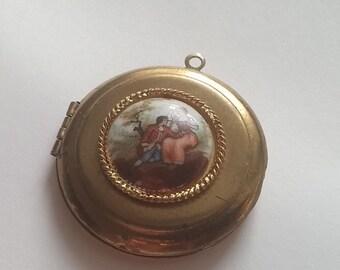 Vintage Hand Painted Limoges Locket