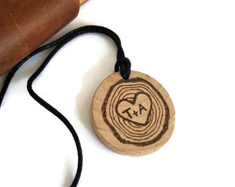 personalized couples necklace, couples gift, anniversary necklace, wood slice necklace, custom wood gift, couples name gift, valentine