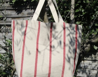 Thick, lined with linen cotton tote