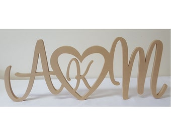 Personalised Wedding sign with initial in love heart