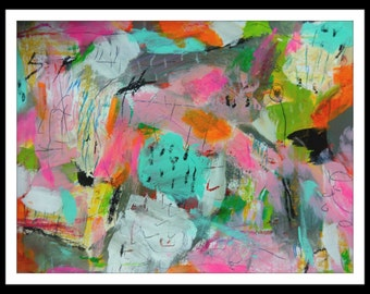 Abstract Mixed Media Painting