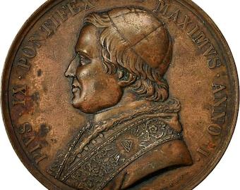 vatican medal pape pie ix 1846 cerbara ms(60-62) bronze