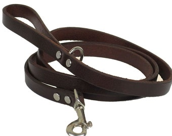 Dog Leash Leather with Ring at Handhold DC0121