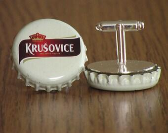 NEW Krusovice Beer Cap Cufflinks