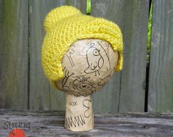 Tinker Bell Wig Hat for Newborn and 3-6 months, Crochet