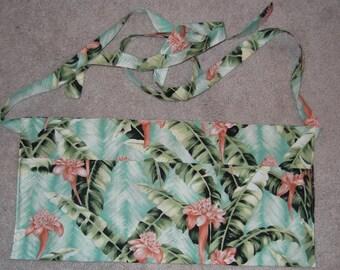 Waitress Utility ~HAWAIIAN FLOWERS~ 3 Pocket Half Apron