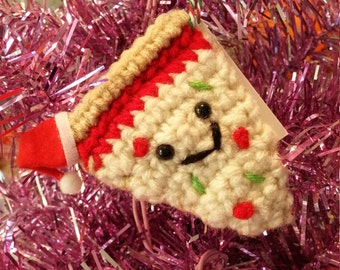 Santa Pizza Ornament