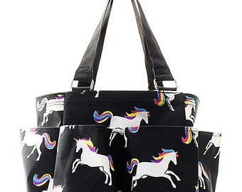 Unicorn Grooming Tote/Caddy Bag - Personalized/Monogrammed