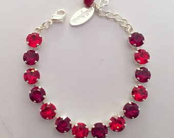 ANY TWO COLORS: Swarovski Crystal Bracelet (8mm)