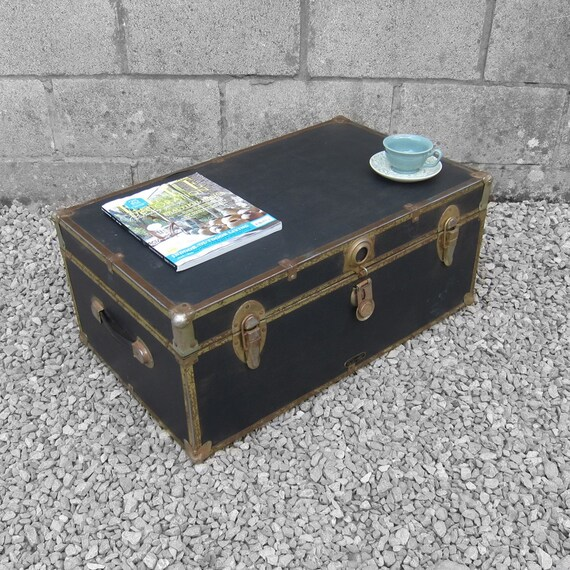 Trunk Box Coffee Table: Black Trunk Chest Box Coffee Table Storage MossMan