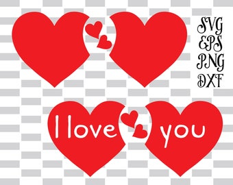 Valentines day svg, DXF EPS, Silhouette and Cricut, Commercial use -Instant DownLoad