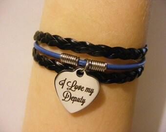 Deputy bracelet, deputy jewelry, I love my deputy bracelet, I love my deputy jewelry, police wife bracelet, police wife jewelry