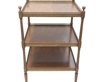 Neo-Classical End Table with Three Tiers, Maison Jansen
