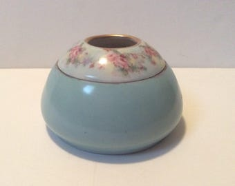 Antique Bavarian Porcelain Hair Receiver Hand Painted