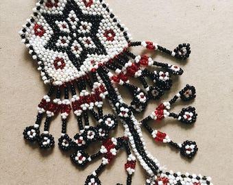 Vintage Indian beaded Keyring, Boho style bag charm, Gypsy style bag charm, Old Indian beaded, Handmade Keychians, Vintage keychians