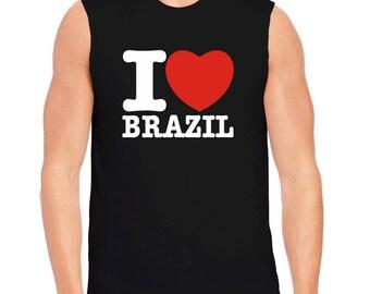 I Love Brazil Sleeveless T-Shirt