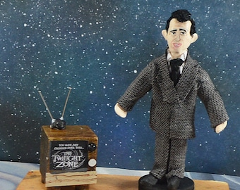 Rod Serling Doll Art Miniature Creator of The Twilight Zone Science Fiction Geekery