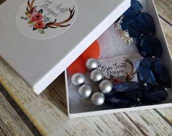 Gift Box and Packaging, add to purchases, for large chunky statement necklaces, earrings, bracelets
