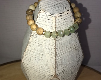 Picture Jasper and Chalcedony Yoga Stretch Bracelet